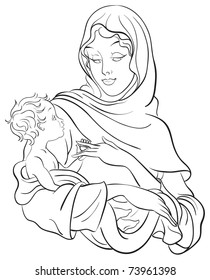 Jesus Coloring Page Images Stock Photos Vectors Shutterstock