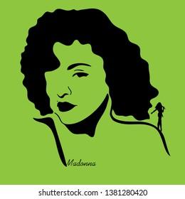 Madonna singer graphic vector art