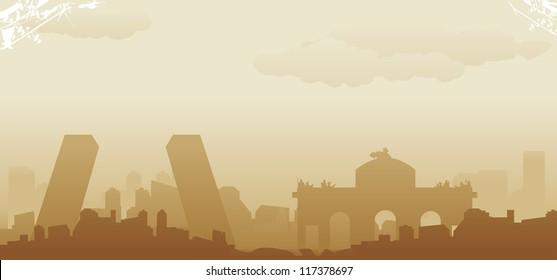 madrid abstract skyline