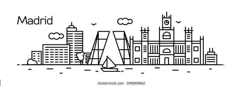 Madrid City. Vector illustration