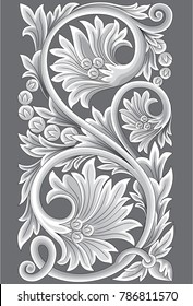 Madura carved ornaments Motif Carving Madura is a composition of leaves - the leaves are wide and rigid, imposing their harsh and resolute character.