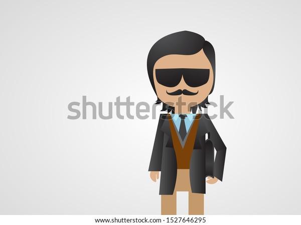 Mafia Gangster Cartoon Vector Business Man Stock Vector Royalty Free 1527646295