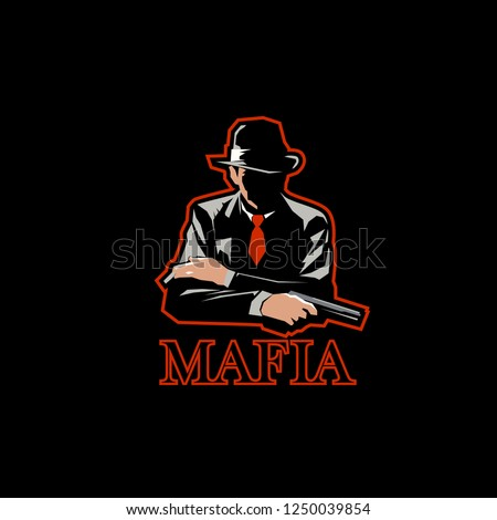 Mafia Logo Mascot Gaming Esport Logo Stock Vector Royalty Free