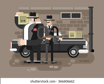 Mafia man character