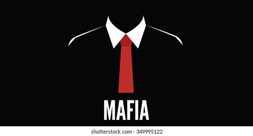mafia man silhouette crime red tie
