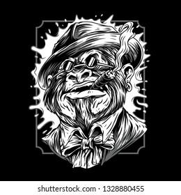 Mafia Remastered Black and white Illustration