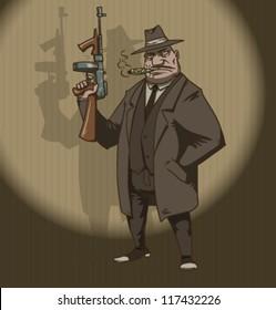 Mafia retro, vector 05