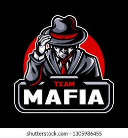 Mafia Team - Mascot & Esport Logo All elements on this template are editable with adobe illustrator!