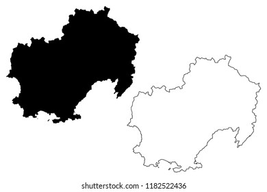 Magadan Oblast (Russia, Subjects of the Russian Federation, Oblasts of Russia) map vector illustration, scribble sketch Magadan Oblast map