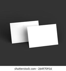 Magazine, booklet, postcard or brochure mockup template. Vector Illustration EPS10.