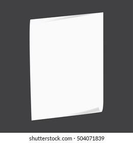 Magazine, booklet, postcard, business card or brochure mockup template. Vector Illustration EPS10