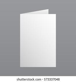 Magazine, booklet, postcard, flyer, business card or brochure mockup template. Vector Illustration EPS10