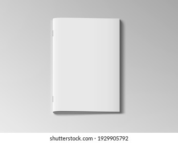 Magazine Or Brochure With Blank Cover Isolated On White Background. EPS10 Vector