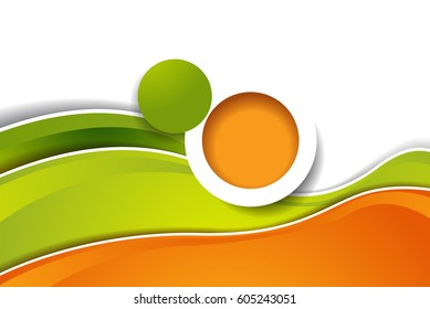 Magazine cover, design layout template. Abstract vector background.
