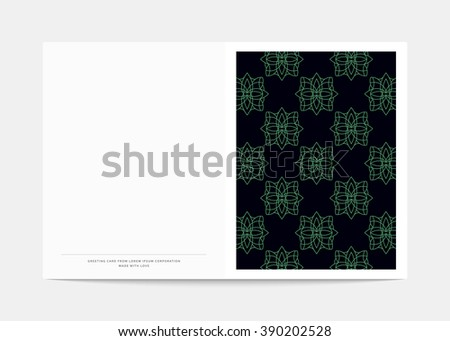 magazine cover geometric patterns magazine page stock vector
