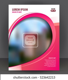 Magazine, flyer, brochure, beauty cover layout violet design template, vector Illustration