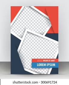 flyer design template abstract brochure background stock vector