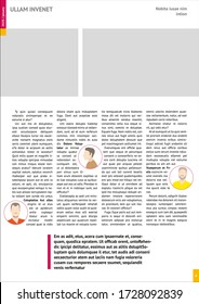 magazine mockup, annual report mockup with pink headers
