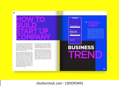 Magazine and Presentation Layout Design Template for Digital Business and Marketing