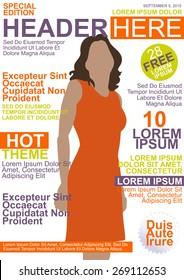 Magazine Template Cover