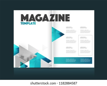 Magazine template with two pages