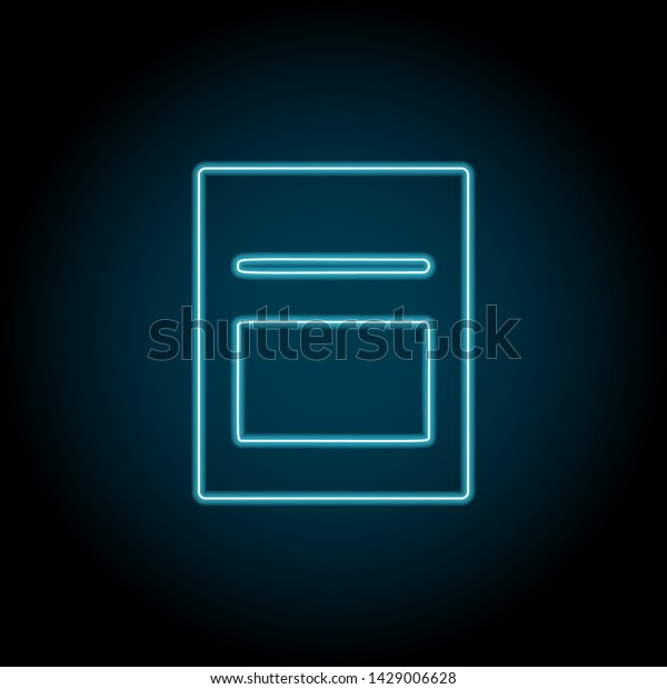 Magazine Text Neon Icon Simple Thin Stock Vector (Royalty Free