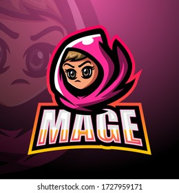 Mage mascot esport logo design