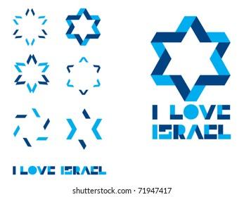 Magen David sign- I love Israel