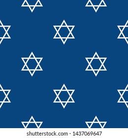 Magen David star pattern vector illustration. Jewish Israeli symbol pattern, ornament. Star of David background. Vector EPS 10.