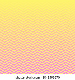 Magenta Pink Yellow Ombre Chevron Vector Pattern. Magical Neon Colored Background. Gradient Fade Texture. Zigzag Stripes Blending into Solid Color. Horizontally Seamless Pattern Tile Swatch Included.