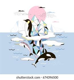 magic Arctic poster, scandinavian style