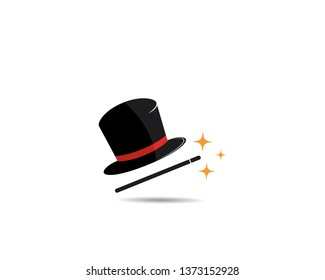 ac4d116f26784e Magic cap logo concept,vector illustration design. Circus Icons. magic hat  icon
