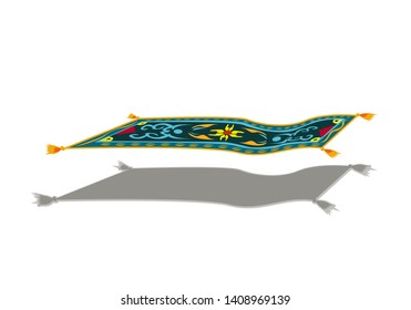 Magic carpet floats in the air. Editable Clip Art.