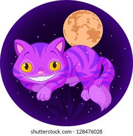Magic Cheshire Cat levitating in the air