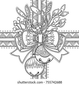 Christmas zentangle coloring page | Christmas coloring pages ... | 280x260