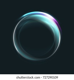 Magic circle light effects. Illustration isolated on dark background. Graphic concept for your design