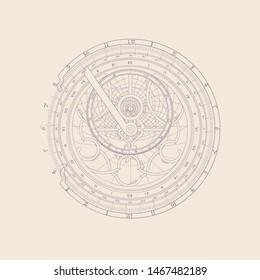 Magic circle of predictions and horoscopes