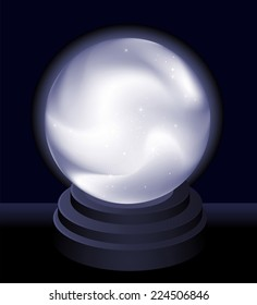 Magic Crystal Ball Fortune teller vector illustration