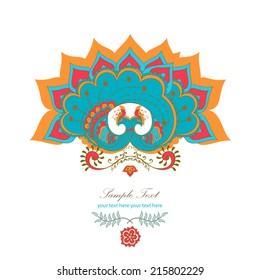 magic decorative hindu peacock drawing