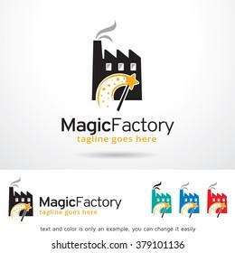 Magic Factory Logo Template Design Vector