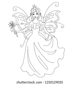 magic fairy princess isolated illustration 260nw