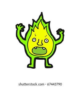 magic flame creature cartoon