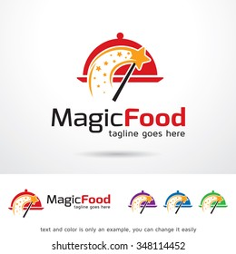 Magic Food Logo Template Design Vector