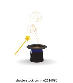 Magic hat with magic wand