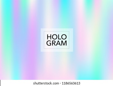 Magic Hologram Lights Vector Background. Luxury Trendy Tender Pearlescent Color Overlay. Vibrant Holographic Princess, Fairytale, Cute Girlie Texture. Unicorn Fairy Tale Glitch Hologram Gradient