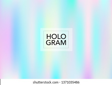 Magic Hologram Lights Vector Background. Luxury Trendy Tender Pearlescent Glam Overlay. Cool Funky Holographic Princess, Fairytale, Cute Girlie Texture. Unicorn Magic Funky Teal, Hologram Gradient