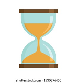Magic hourglass icon. Flat illustration of magic hourglass vector icon for web design