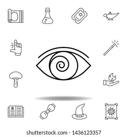 magic hypnosis outline icon. elements of magic illustration line icon. signs, symbols can be used for web, logo, mobile app, UI, UX