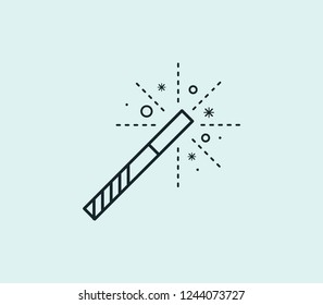 Magic icon line isolated on clean background. Magic icon concept drawing icon line in modern style. Vector illustration for your web mobile logo app UI design.