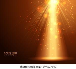 Magic light background vector illustration